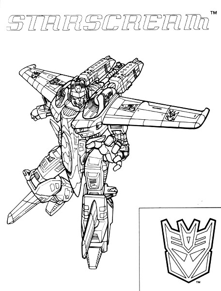 Transformers starscream coloring pages coloring pages for Transformers coloring pages starscream